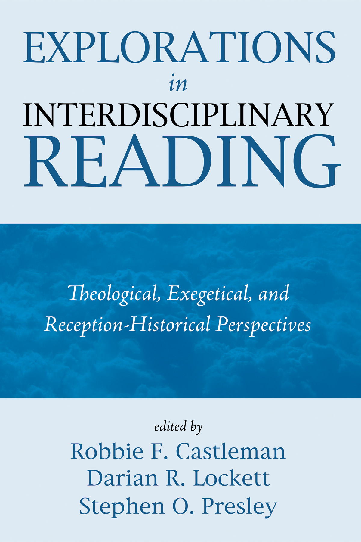 Explorations in Interdisciplinary Reading Cover