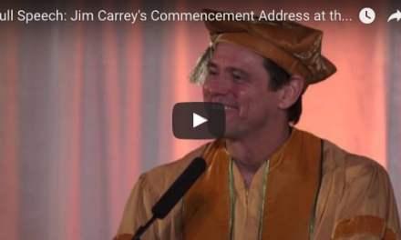 Jim Carrey est un grand acteur. C'est aussi quelqu'un de très sage. Découvrez son discours qui va changer votre vie.