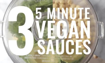3 sauces vegan délicieuses prêtes en 5 minutes.