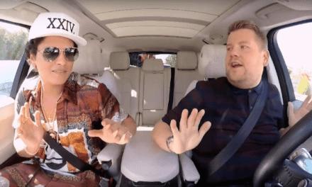 Bruno Mars dans la voiture de James Corden