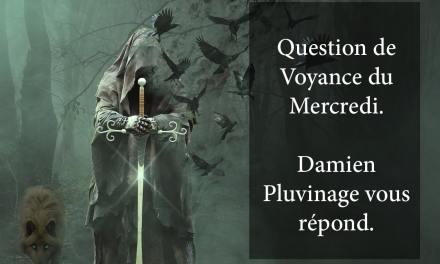 RÉPONSE DE DAMIEN PLUVINAGE À LA QUESTION DE VOYANCE OFFERTE DU 18 Juillet 2018. GAGNANT: Pascal