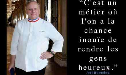 Un grand Chef tire sa révérence…