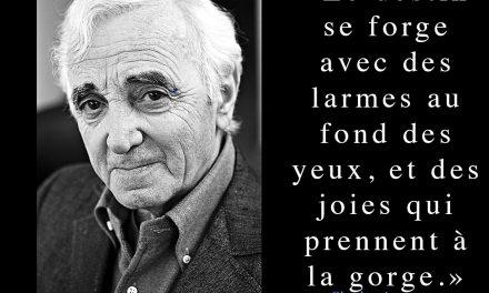 Charles Aznavour – Citation