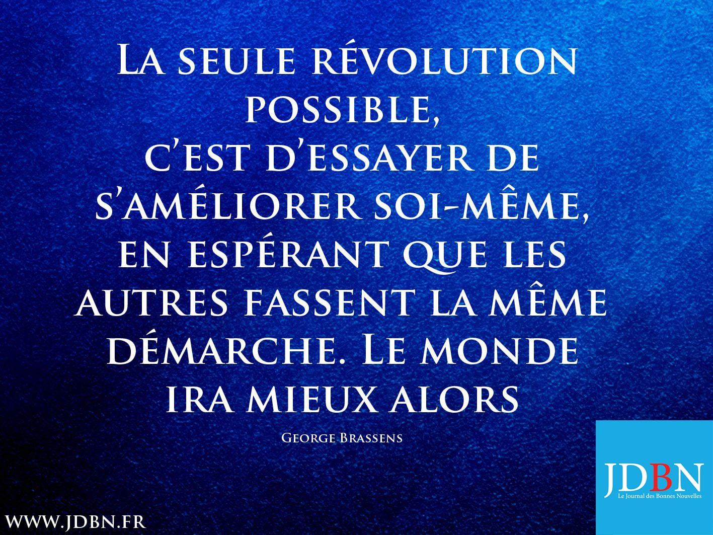 La seule révolution possible…