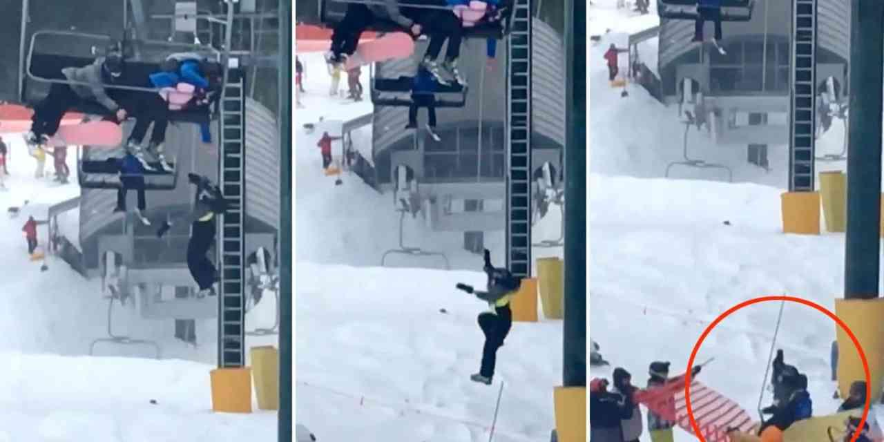 Canada: Un jeune garçon glisse d'un télésiège à Vancouver. Regardez son sauvetage ingénieux par un groupe de jeunes skieurs.
