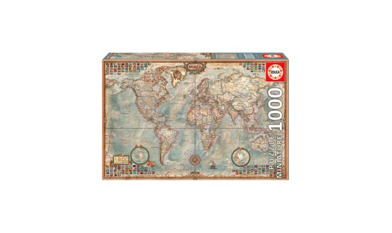 Puzzle 1000 MINI – El Mundo, Mapa Político – Educa