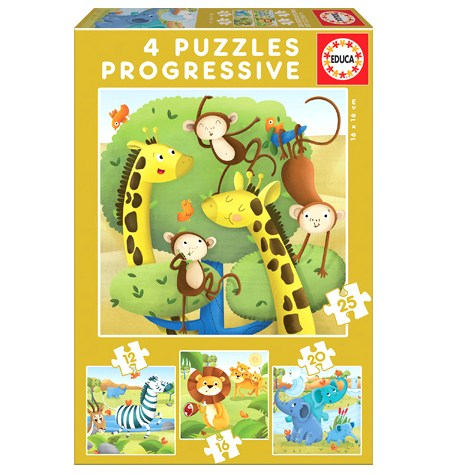 Puzzle 12, 16, 20, 25 Animales Salvajes – Educa
