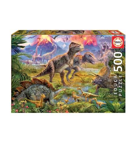 Puzzle 500 Encuentro de Dinosaurios – Educa