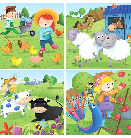Puzzle 6, 9, 12, 16 Animales de la Granja – Educa