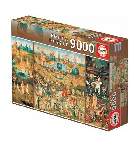 Puzzle 9000 El Jardín de las Delicias – Panorámico – Educa