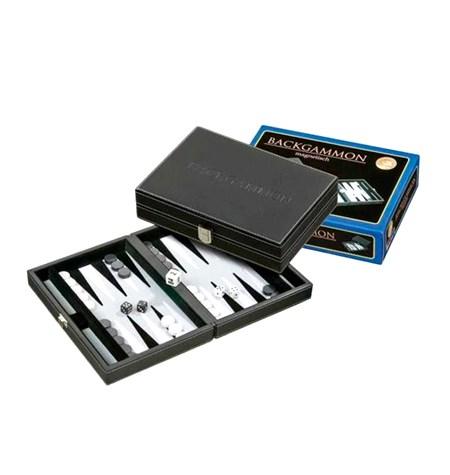 Backgammon Pequeño Fieltro Negro/Gris Magnético