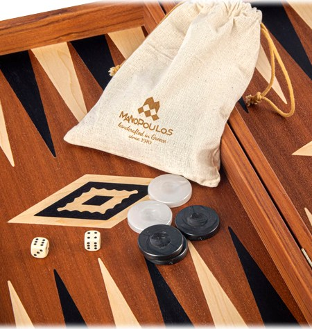 Backgammon Grande Madera CAOBA