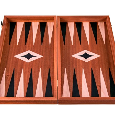 Backgammon Mediano Madera CAOBA Sin Barra