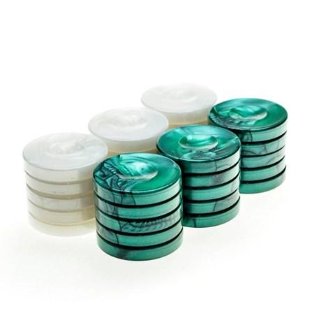 Fichas Backgammon Pequeñas VERDE