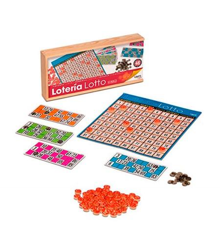Lotería caja Madera