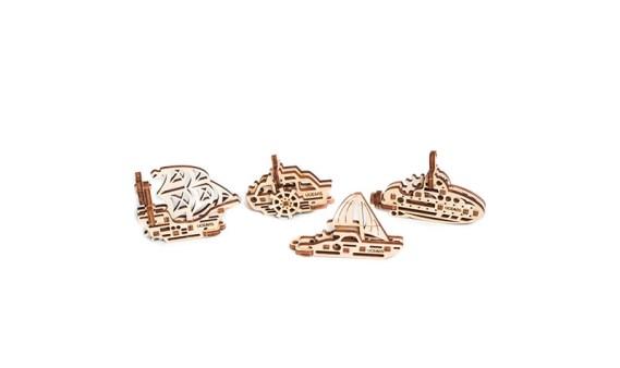 Construcción de Madera – Modelos MINI – 4 Barcos