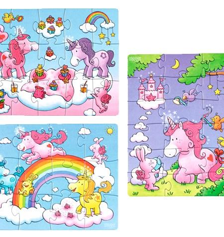Puzzle 12, 15, 18 Unicornios – Haba