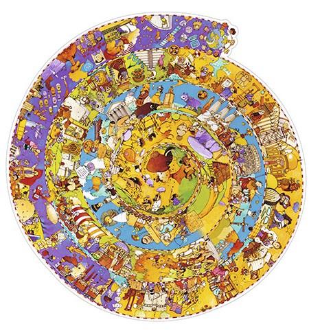 Puzzle y Juego 350 Historia del Mundo – Djeco