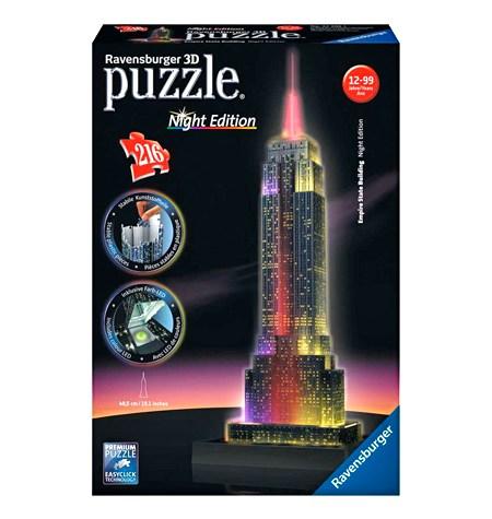 Puzzle 3D LUZ – 216  Empire State, Nueva York – Ravensburger