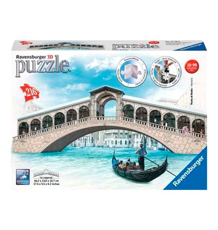 Puzzle 3D – 216  Puente Rialto, Venecia – Ravensburger