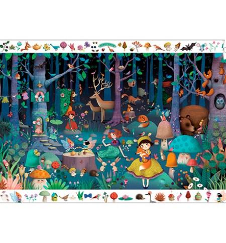 Puzzle y Juego 100 Bosque Encantado – Djeco