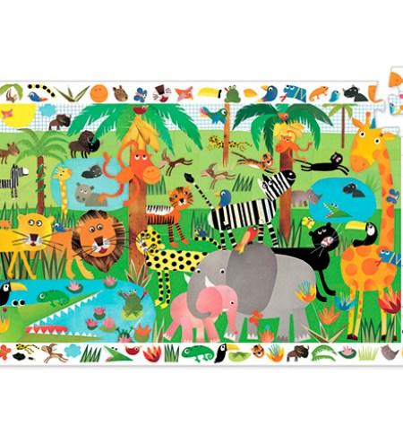 Puzzle y Juego 35 Selva – Djeco