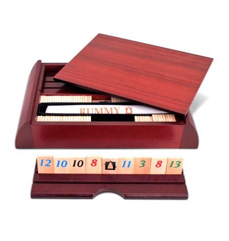 Rummy 4 jugadores Madera – Caja Madera