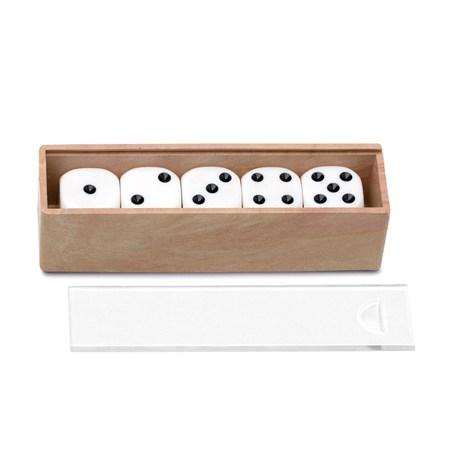 Caja de 5 Dados con puntos