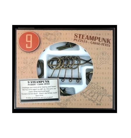 Rompecabezas de Metal – Caja de 9 STEAMPUNK Marrón