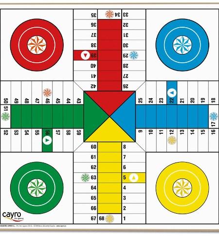 Tablero Parchís 4 jugadores / Oca – 33cm