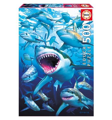 Puzzle 500 Tiburones – Educa