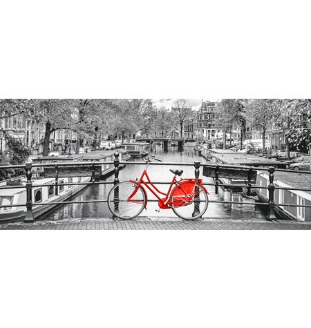 Puzzle 1000 Amsterdam Bicycle Panorámico – Clementoni