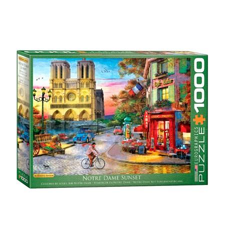 Puzzle 1000 Atardecer en Notre Dame – Eurographics