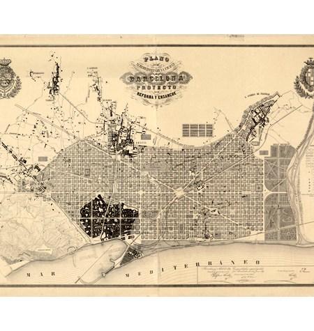 Puzzle 540 Mapa Antiguo de Barcelona – Architoys