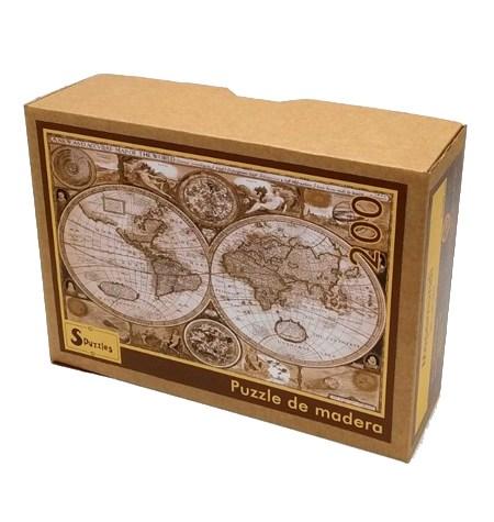 Puzzle 500 Madera – Mapamundi – SPuzzles
