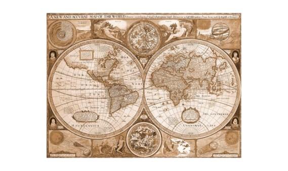 Puzzle 200 Madera – Mapamundi – SPuzzles