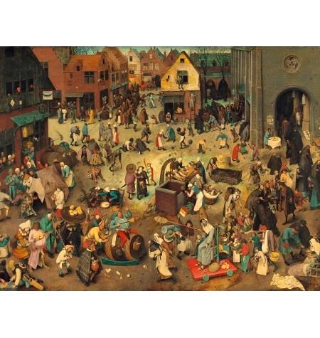 Puzzle 200 Madera – Don Carnal y Doña Cuaresma, Brueghel – SPuzzles