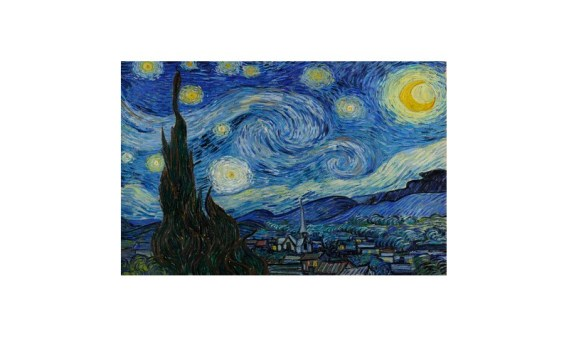 Puzzle 200 Madera – Noche Estrellada, Van Gogh – SPuzzles