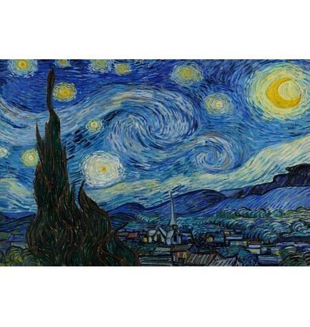 Puzzle 80 Madera – Noche Estrellada, Van Gogh – SPuzzles