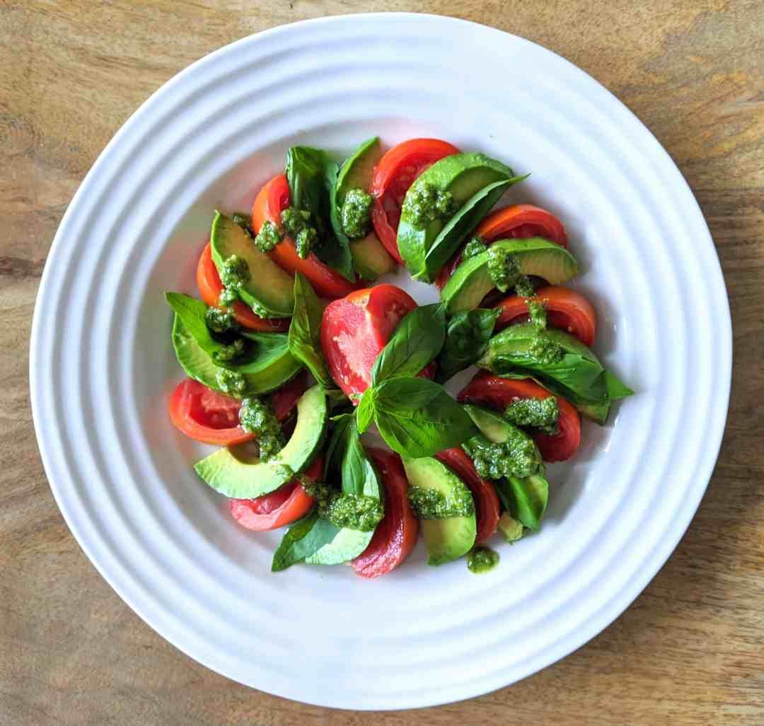Avocado Caprese Salad Dairy Free