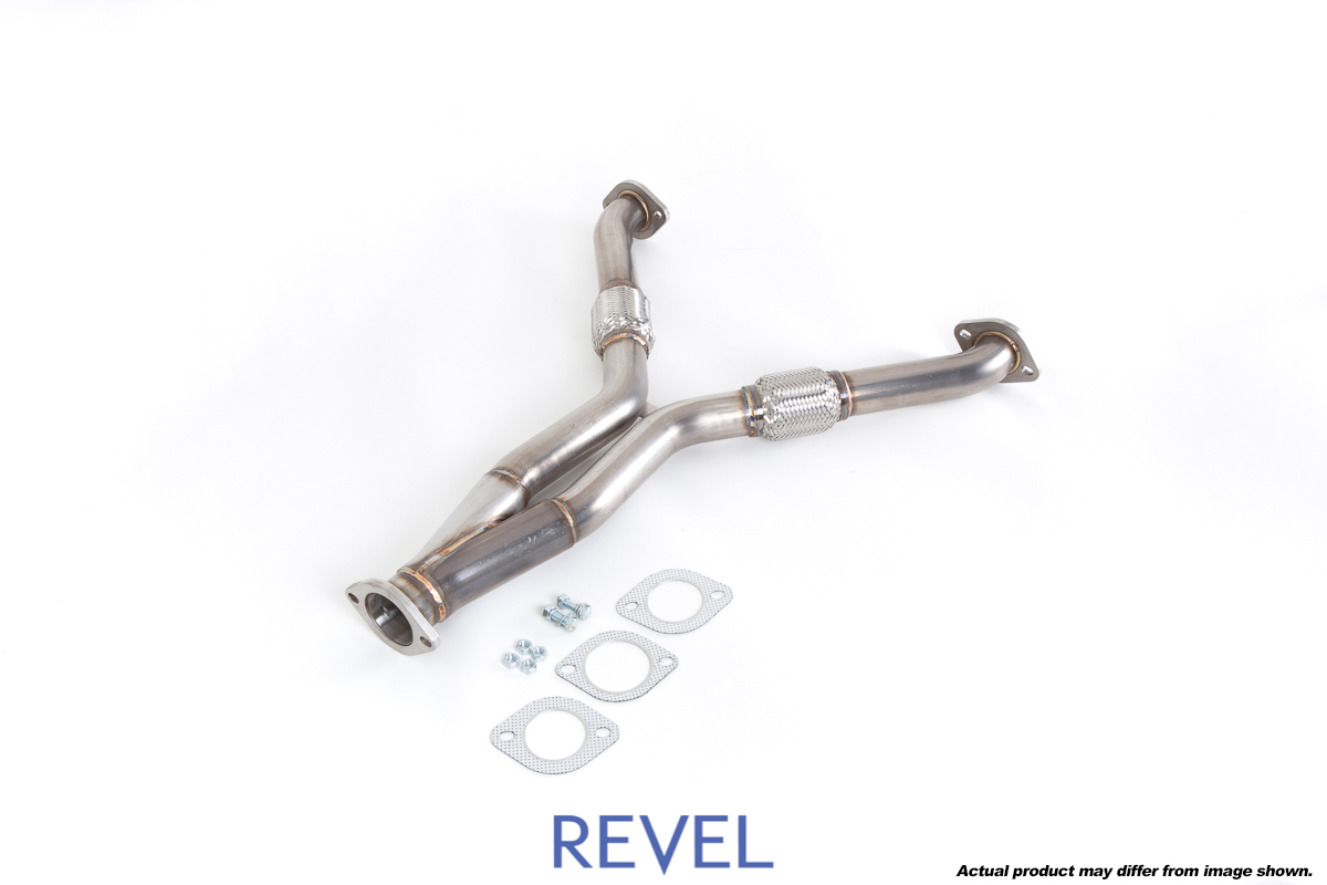 revel exhaust system y pipe nissan 370z 09 15
