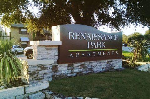 Renaissance park apartments ID sign