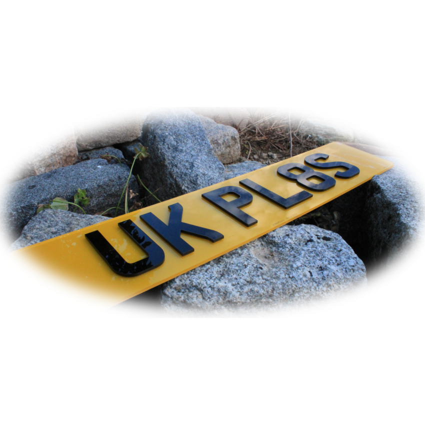 Small 4D 3mm UK Front & Rear Bespoke Legal Number Plates For ALL UK Vehicles