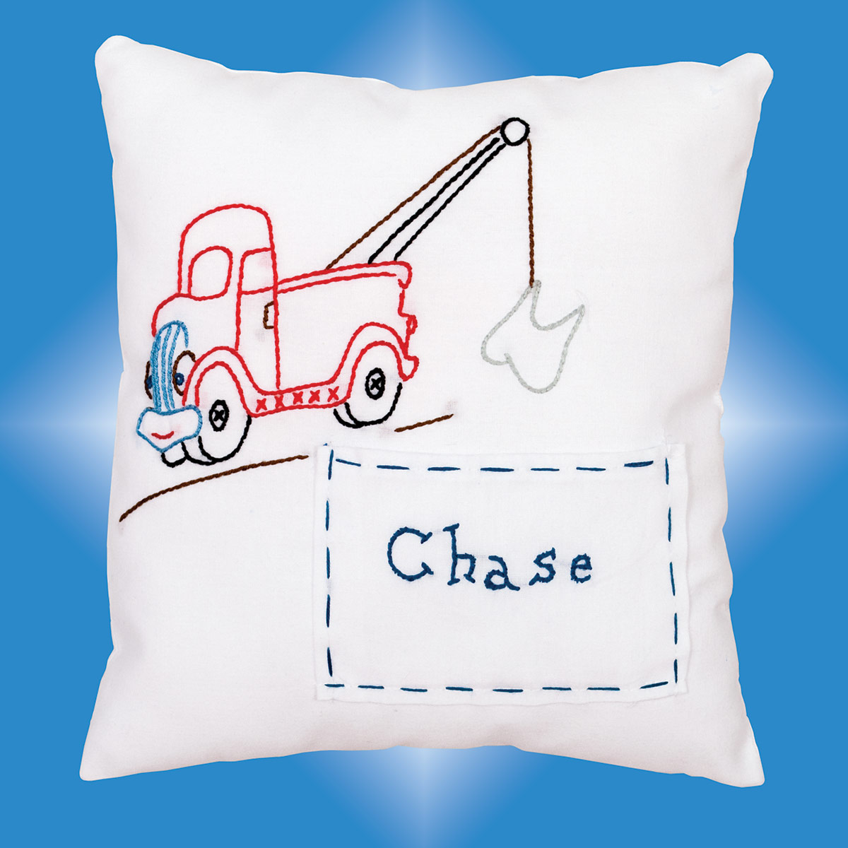 tow truck tooth fairy pillow