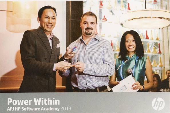2013 APJ Software Academy - Receiving Award