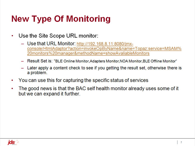 A New Type of Monitoring