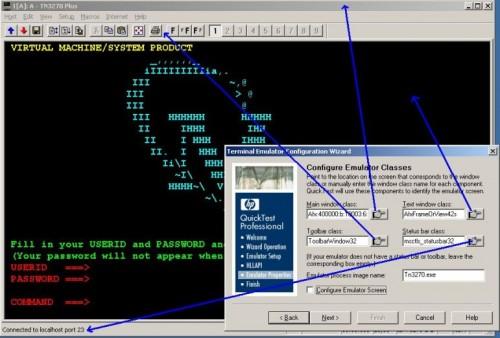 Register emulator window components in QTP