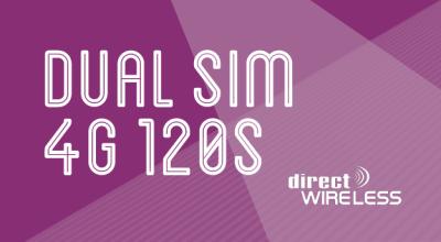 Directwireless Dual SIM 4G 120s Plan