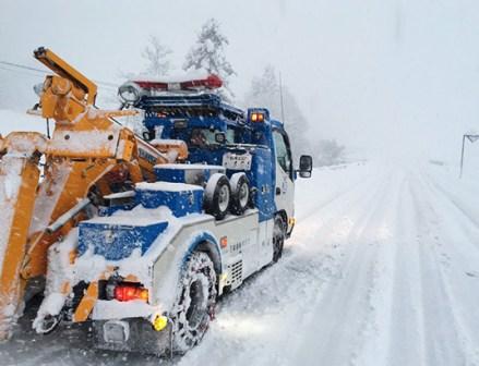 降雪でJAFのロードサービス救援要請件数が増加