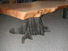 Coffee table wtih layered stump base
